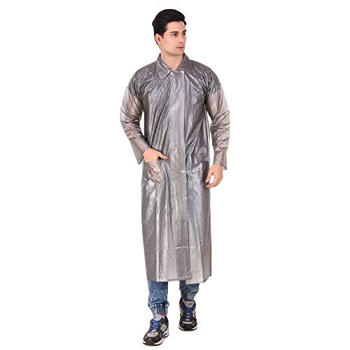 Finery Transparent Rain Coat with Hoods and Side Pocket, One-Piece Raincoat