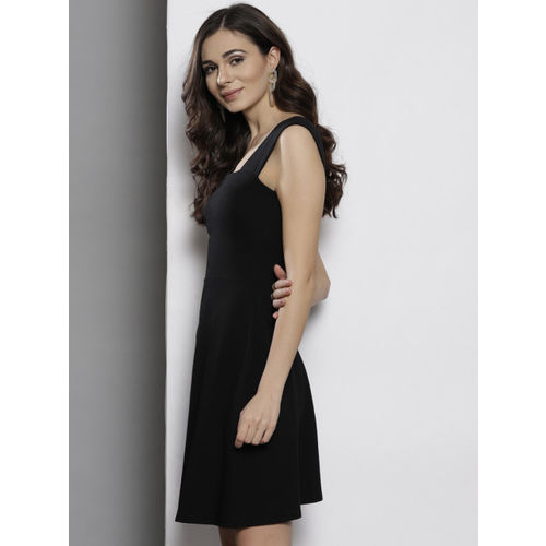 DOROTHY PERKINS Women Black Solid Fit & Flare Dress