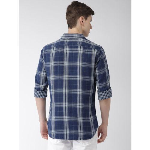 Celio Men Blue Checked Casual Shirt