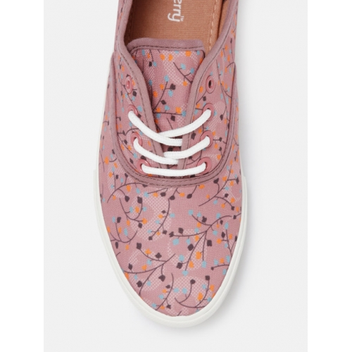 DressBerry Pink TPR Printed Sneakers