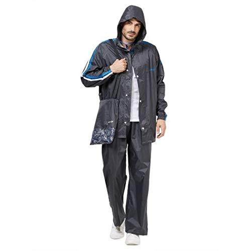 ZEEL Men's Grey Polyester Rain Suit