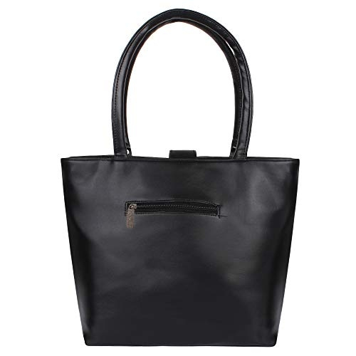 TWO GOOSE Black PU Leather Hand Bag