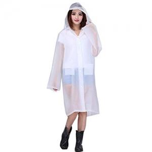 Malvina Girl's Waterproof PVC Unisex Transparent Overcoat, Raincoat