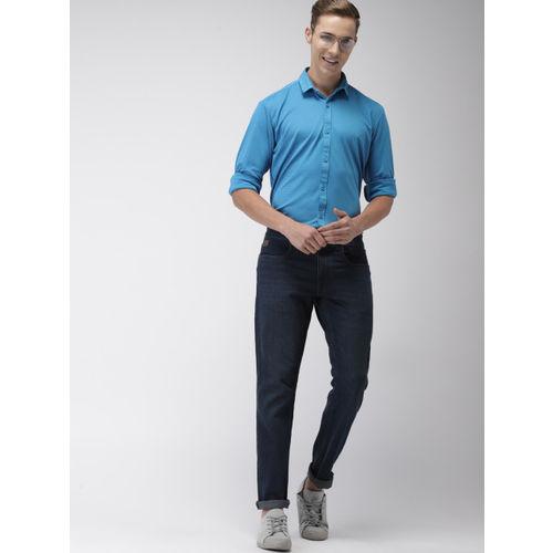 Mast & Harbour Men Blue Regular Fit Printed Casual Shirt