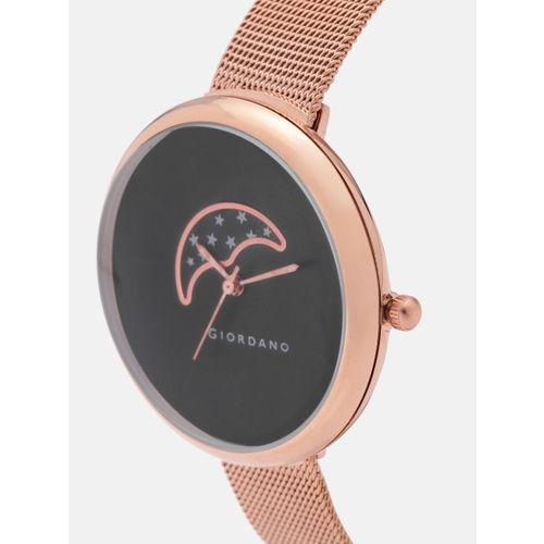 Giordano C2118-44 Black Analog Watch