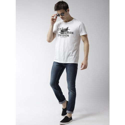 Flying Machine Men Navy Skinny Fit Mid-Rise Clean Look Stretchable Jeans