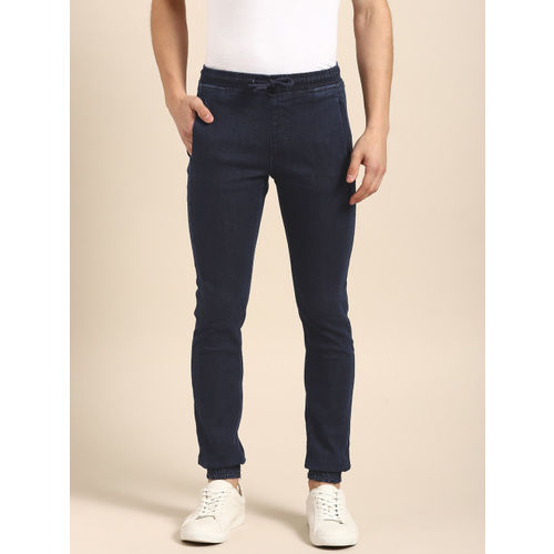 ether Men Blue Jogger Mid-Rise Clean Look Stretchable Jeans
