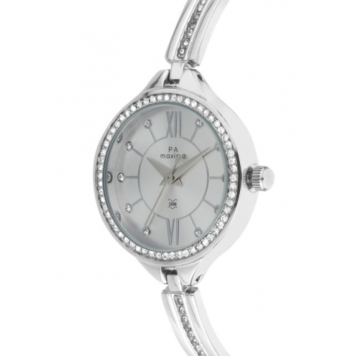 maxima Women Silver-Toned Analogue Watch 52801BMLI