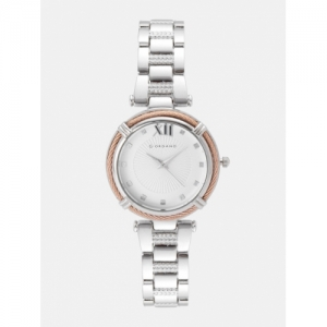 GIORDANO Women Silver-Toned Textured Analogue Watch C2122-11