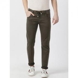 Monte Carlo Men Brown Slim Fit Mid-Rise Clean Look Jeans