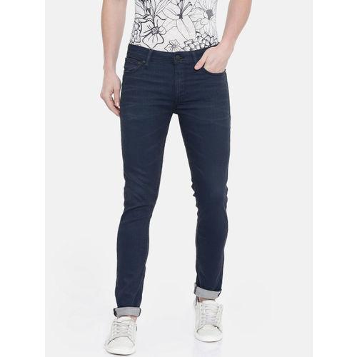 Jack & Jones Men Blue Liam Skinny Fit Low-Rise Clean Look Stretchable Jeans