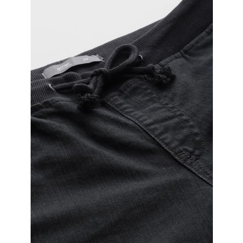 ether Men Black Jogger Mid-Rise Clean Look Stretchable Jeans