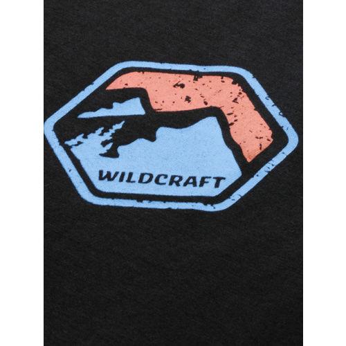 Wildcraft Men Black Solid Round Neck T-shirt