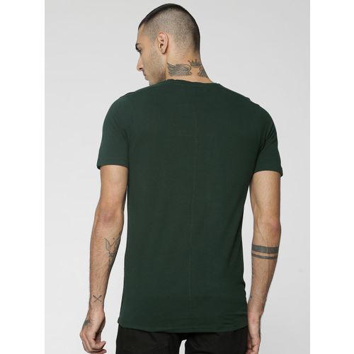 Jack & Jones Men Green Printed Round Neck T-shirt