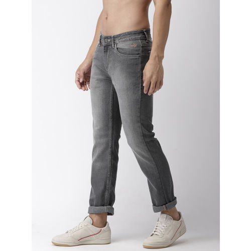 Flying Machine Men Charcoal Grey Michael Slim Tapered Fit Mid-Rise Stretchable Jeans