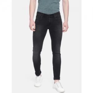 SPYKAR Black Denim Skinny Fit Clean Look Stretchable Jeans
