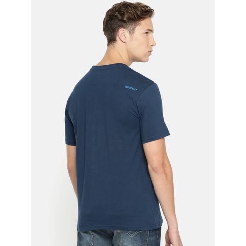 Wildcraft Men Blue Printed Round Neck T-shirt