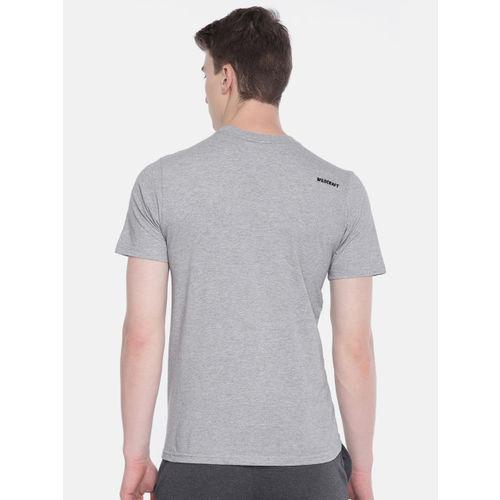 Wildcraft Men Grey Melange Printed Round Neck T-shirt