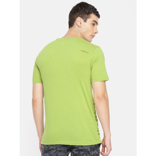 Wildcraft Men Green Printed Round Neck T-shirt