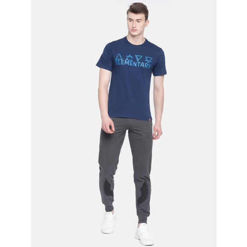 Wildcraft Men Navy Blue Printed Round Neck T-shirt