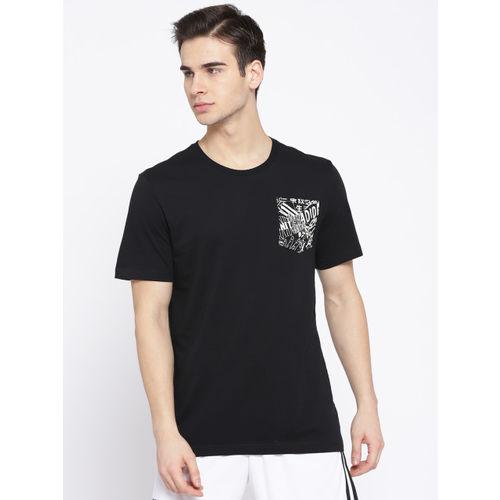 ADIDAS Men Black Solid MH Pocket T-shirt