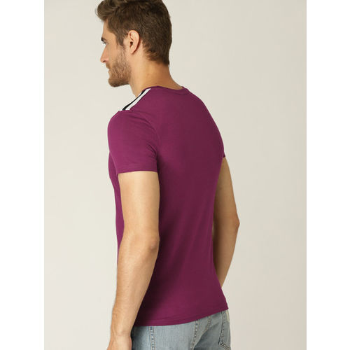 United Colors of Benetton Men Purple Printed T-shirt