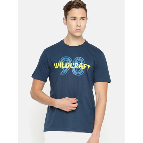 Wildcraft Men Blue Printed Round Neck T-shirt