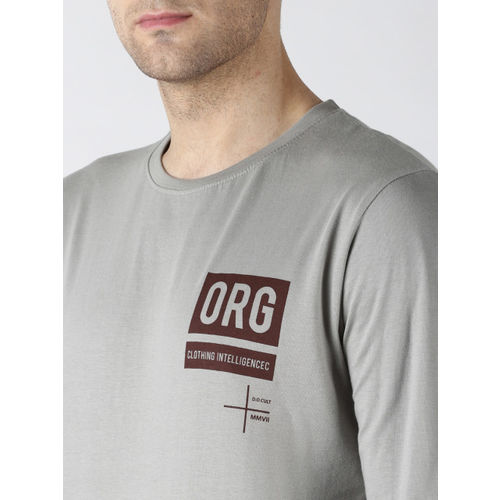 Difference of Opinion Men Grey Printed Round Neck T-shirt