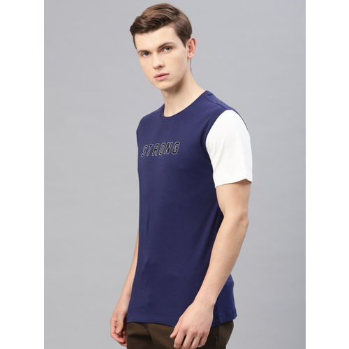 HRX by Hrithik Roshan Men Blue Lifestyle Printed T-shirt