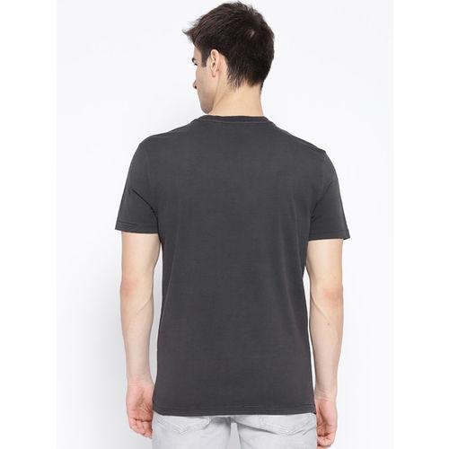 Harley-Davidson Men Charcoal Grey Printed T-shirt