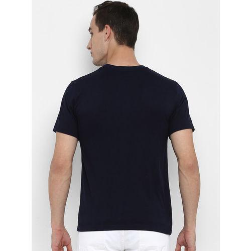 Joven Men Navy Blue Printed Round Neck T-shirt