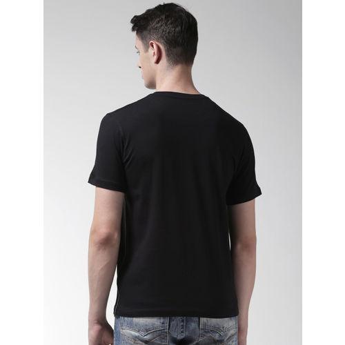 Richlook Men Black & Blue Printed Round Neck T-shirt