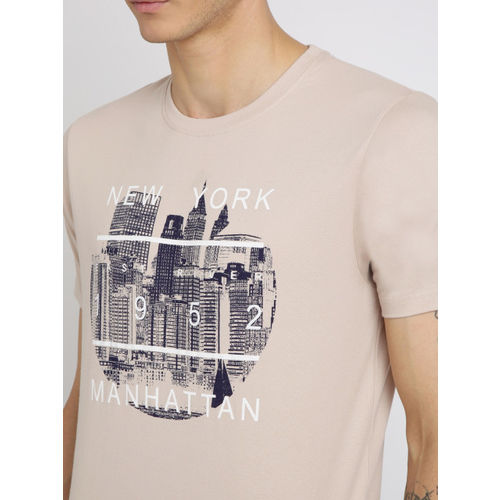 Crocodile Men skin -Coloured Printed Round Neck T-shirt