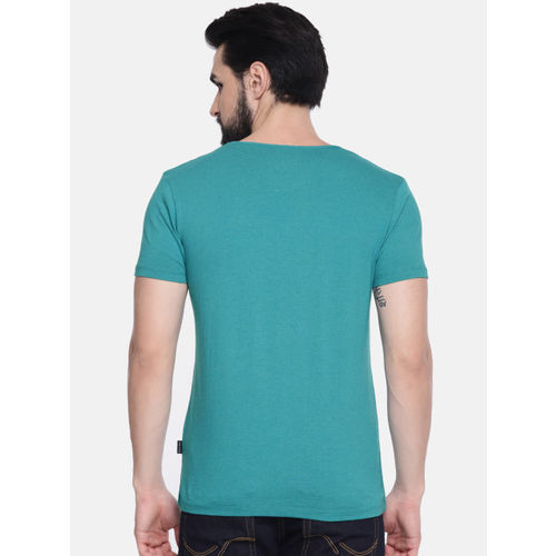 Jack & Jones Men Blue Solid Round Neck T-shirt