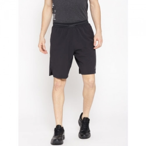 Reebok Men Black Solid OST Knit Woven Training Shorts