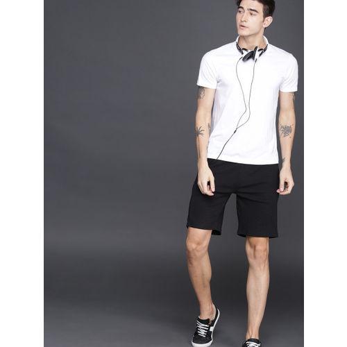 WROGN Men Black Solid Shorts