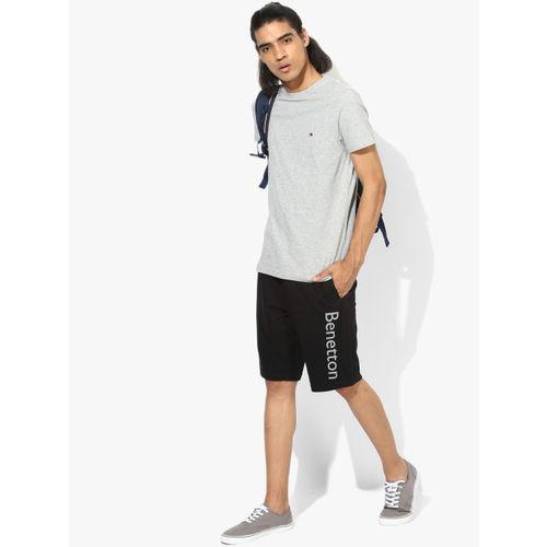 Tommy Hilfiger Grey Melange Solid Slim Fit Round Neck T-Shirt