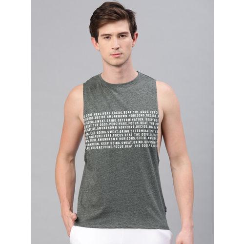 HRX by Hrithik Roshan Men Grey Lifestyle Printed T-shirt