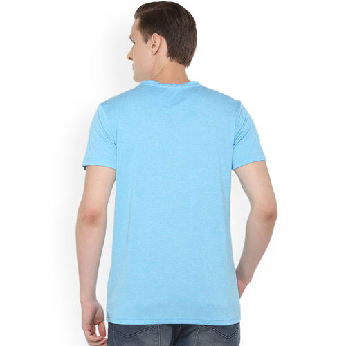 Allen Solly Sport Men Blue Printed Round Neck T-shirt
