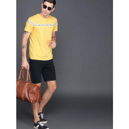 WROGN Men Black Solid Slim Fit Chino Shorts