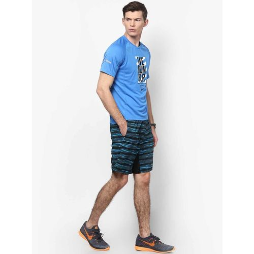 Nike Em World 10K Aqua Blue Round Neck T-Shirt