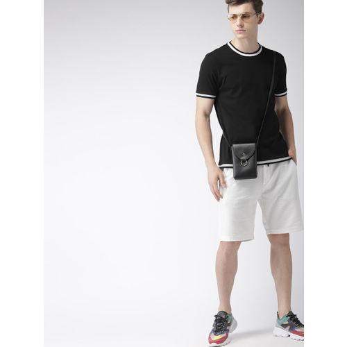Harvard Men Black Solid Round Neck T-shirt