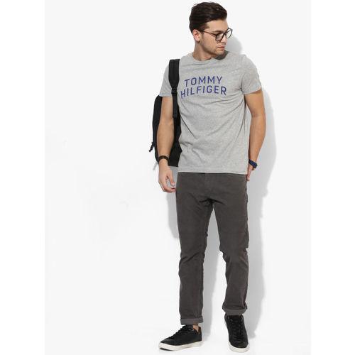 Tommy Hilfiger Grey Printed Round Neck Tshirt
