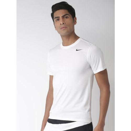 Nike Men White Solid Standard Fit AS M LGD 2.0 DRI-FIT Training T-shirt