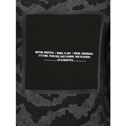 SKULT by Shahid Kapoor Men Black Printed Round Neck T-shirt