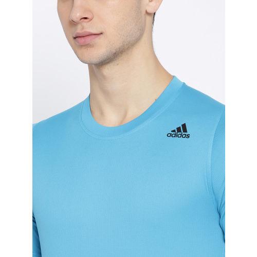 ADIDAS Men Blue FL_SPR Z FT 3ST Solid Polo T-shirt