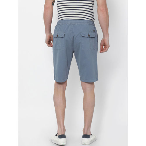 Nature Casuals Men Blue Solid Slim Fit Chino Shorts