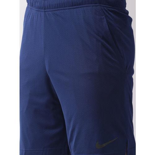 Nike Men Blue Solid Standard Fit MNSTR MESH 4.0 Dri-FIT Training Shorts