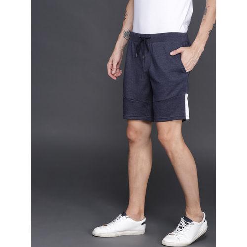 WROGN Men Navy Blue Solid Shorts