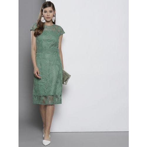 DOROTHY PERKINS Women Green Lace Sheath Dress